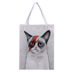 Grumpy Bowie All Over Print Classic Tote Bag by Olechka