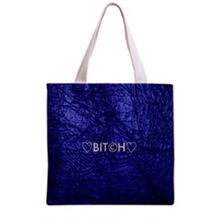 Blue Bit?h All Over Print Grocery Tote Bag by OCDesignss