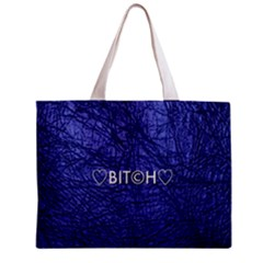 Blue Bit?h All Over Print Tiny Tote Bag by OCDesignss