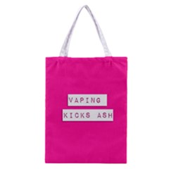 Vaping Kicks Ash Pink  All Over Print Classic Tote Bag
