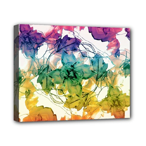 Multicolored Floral Swirls Decorative Design Canvas 10  X 8  (framed) by dflcprints
