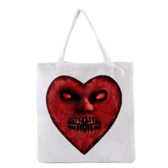 Evil Heart Shaped Dark Monster  All Over Print Grocery Tote Bag