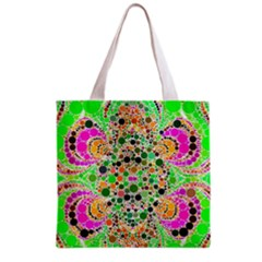 Florescent Abstract  All Over Print Grocery Tote Bag by OCDesignss