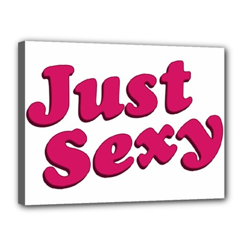 Just Sexy Typographic Quote002 Canvas 16  X 12  (framed) by dflcprints
