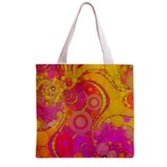 Super Bright Abstract All Over Print Grocery Tote Bag by OCDesignss