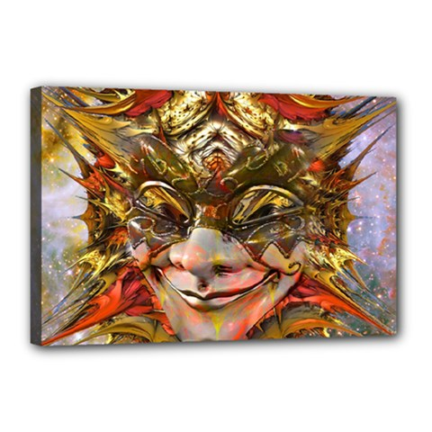 Star Clown Canvas 18  X 12  (framed) by icarusismartdesigns