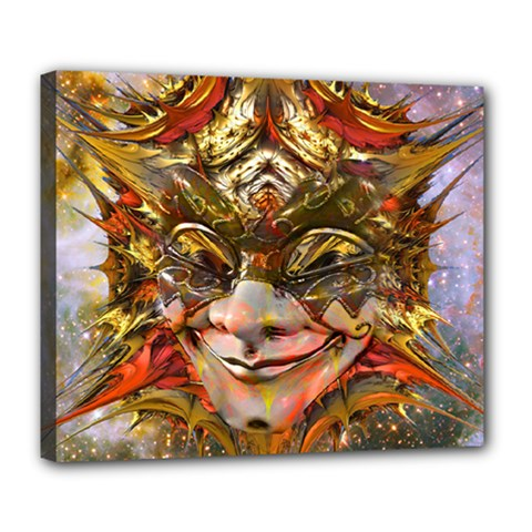 Star Clown Deluxe Canvas 24  X 20  (framed) by icarusismartdesigns