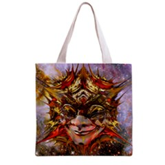 Star Clown All Over Print Grocery Tote Bag by icarusismartdesigns