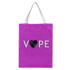 Vape Heart All Over Print Classic Tote Bag by OCDesignss