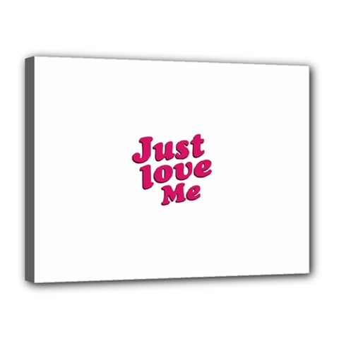 Just Love Me Text Typographic Quote Canvas 16  X 12  (framed) by dflcprints