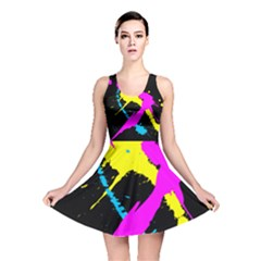Splatter All Over Print Reversible Skater Dress