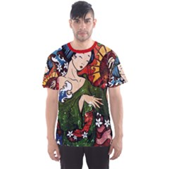 Geisha All Over Print Sport T Shirt (men) by UniqueandCustomGifts