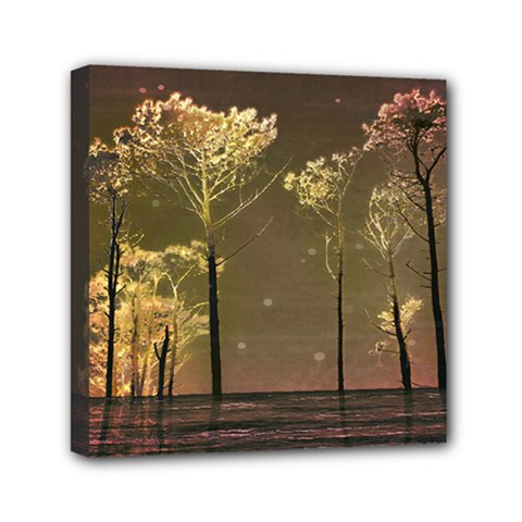 Fantasy Landscape Mini Canvas 6  X 6  (framed) by dflcprints