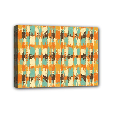 Shredded Abstract Background Mini Canvas 7  X 5  (stretched) by LalyLauraFLM