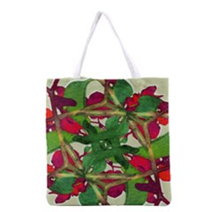Floral Print Colorful Pattern All Over Print Grocery Tote Bag by dflcprints