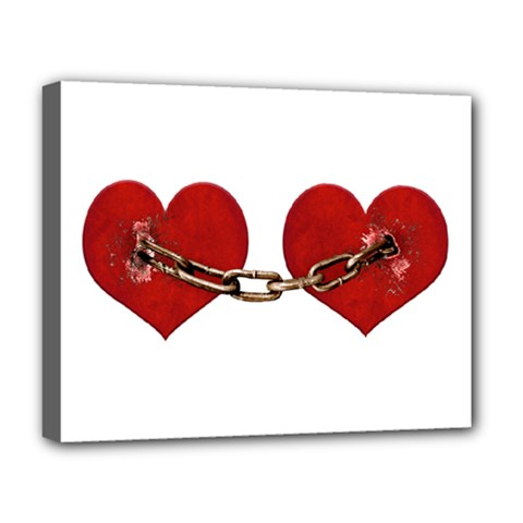 Unbreakable Love Concept Deluxe Canvas 20  X 16  (framed) by dflcprints