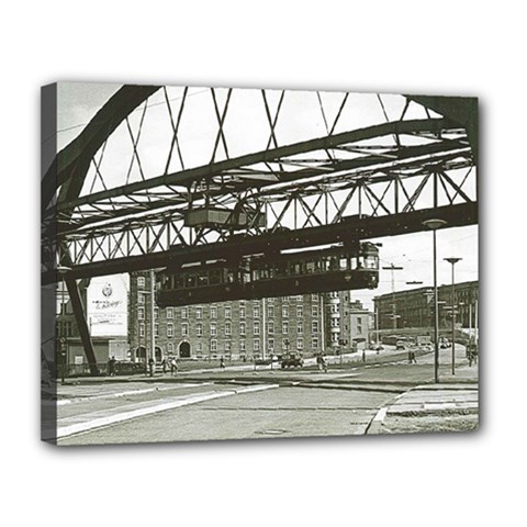 Vintage Wuppertal Floating Train Photo Canvas 14  X 11  (framed) by stineshop