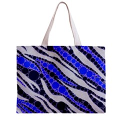 Blue Zebra Bling  All Over Print Tiny Tote Bag