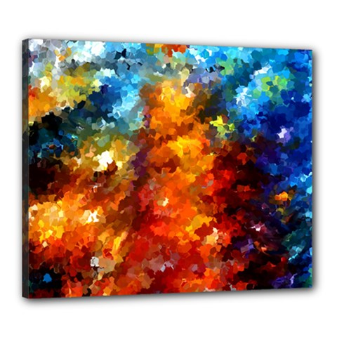 Modern Composition 01 By Rafi Talby Canvas 24  X 20  (framed) by colorfulpaintins