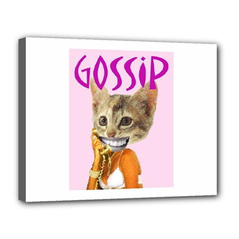 Gossip Canvas 14  X 11  (framed) by AnimalsLol