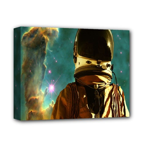 Lost In The Starmaker Deluxe Canvas 14  X 11  (framed) by icarusismartdesigns
