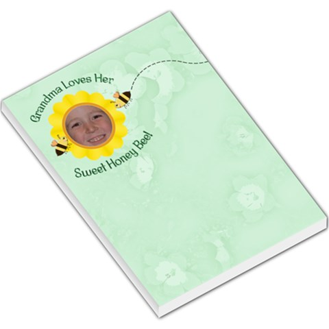 Grandma Loves Her Sweet Honey Bee Large By Chere s Creations   Large Memo Pads   Rt6pmcpqycez   Www Artscow Com