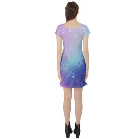 Short Sleeve Skater Dress Back
