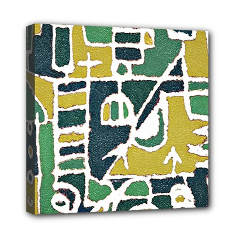 Colorful Tribal Abstract Pattern Mini Canvas 8  X 8  (framed) by dflcprints
