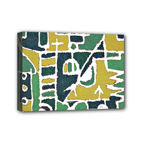 Colorful Tribal Abstract Pattern Mini Canvas 7  X 5  (framed) by dflcprints