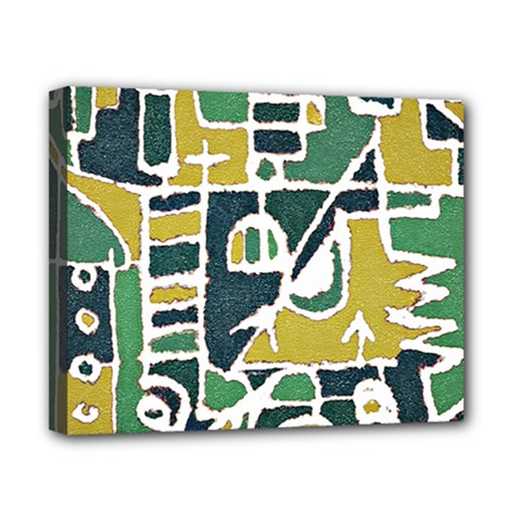Colorful Tribal Abstract Pattern Canvas 10  X 8  (framed) by dflcprints