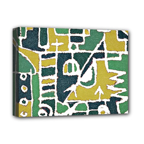 Colorful Tribal Abstract Pattern Deluxe Canvas 16  X 12  (framed)  by dflcprints