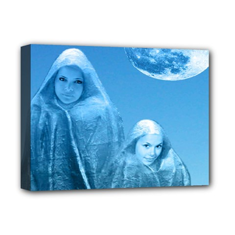 Full Moon Rising Deluxe Canvas 16  X 12  (framed)  by icarusismartdesigns