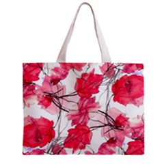 Floral Print Swirls Decorative Design Tiny Tote Bag by dflcprints