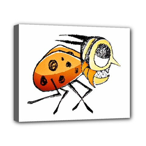 Funny Bug Running Hand Drawn Illustration Canvas 10  X 8  (framed)