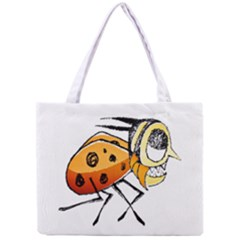 Funny Bug Running Hand Drawn Illustration Tiny Tote Bag by dflcprints