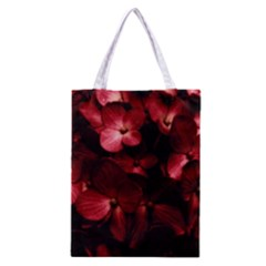 Red Flowers Bouquet In Black Background Photography Classic Tote Bag by dflcprints