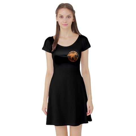 Short Sleeve Skater Dress Front