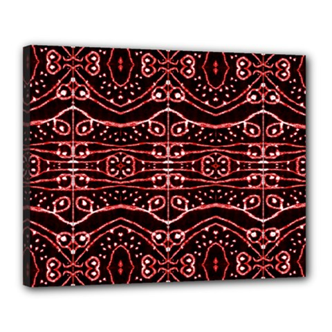 Tribal Ornate Geometric Pattern Canvas 20  X 16  (framed) by dflcprints