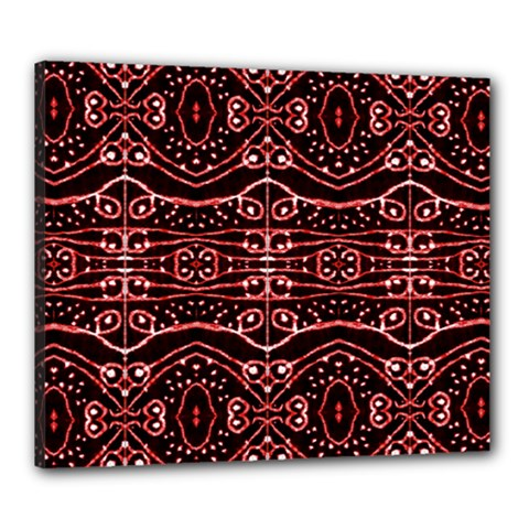 Tribal Ornate Geometric Pattern Canvas 24  X 20  (framed) by dflcprints
