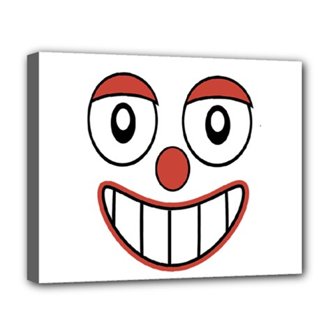 Happy Clown Cartoon Drawing Deluxe Canvas 20  X 16  (framed) by dflcprints