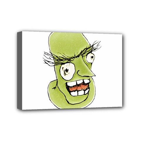 Mad Monster Man With Evil Expression Mini Canvas 7  X 5  (framed) by dflcprints