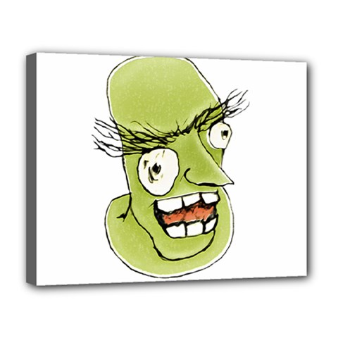 Mad Monster Man With Evil Expression Canvas 14  X 11  (framed) by dflcprints
