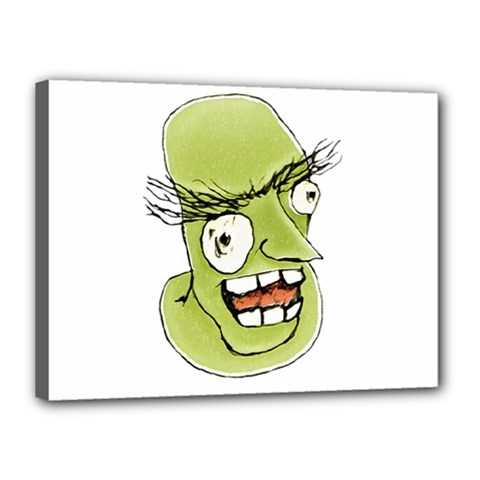 Mad Monster Man With Evil Expression Canvas 16  X 12  (framed) by dflcprints