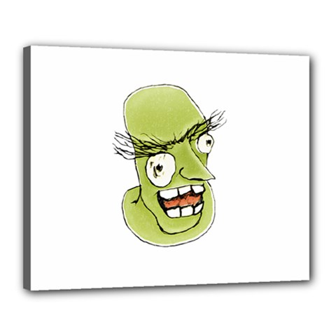 Mad Monster Man With Evil Expression Canvas 20  X 16  (framed) by dflcprints