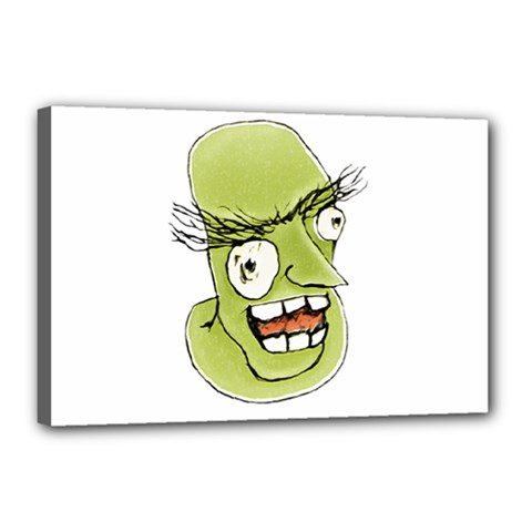 Mad Monster Man With Evil Expression Canvas 18  X 12  (framed) by dflcprints