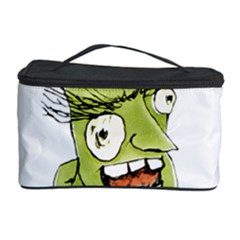 Mad Monster Man With Evil Expression Cosmetic Storage Case by dflcprints