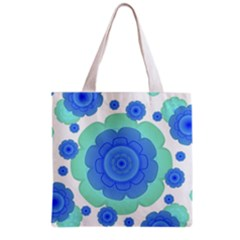 Retro Style Decorative Abstract Pattern Grocery Tote Bag by dflcprints