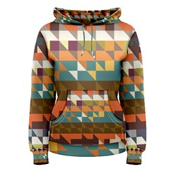 Shapes In Retro Colors Women s Pullover Hoodie by LalyLauraFLM