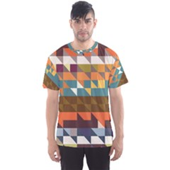 Shapes in retro colors Men s Sport Mesh Tee by LalyLauraFLM