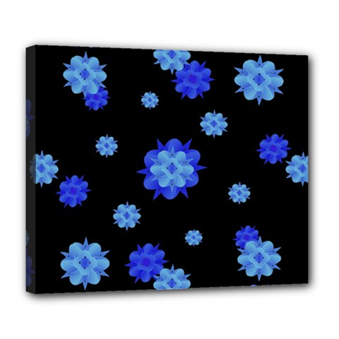 Floral Print Modern Style Pattern  Deluxe Canvas 24  X 20  (framed) by dflcprints